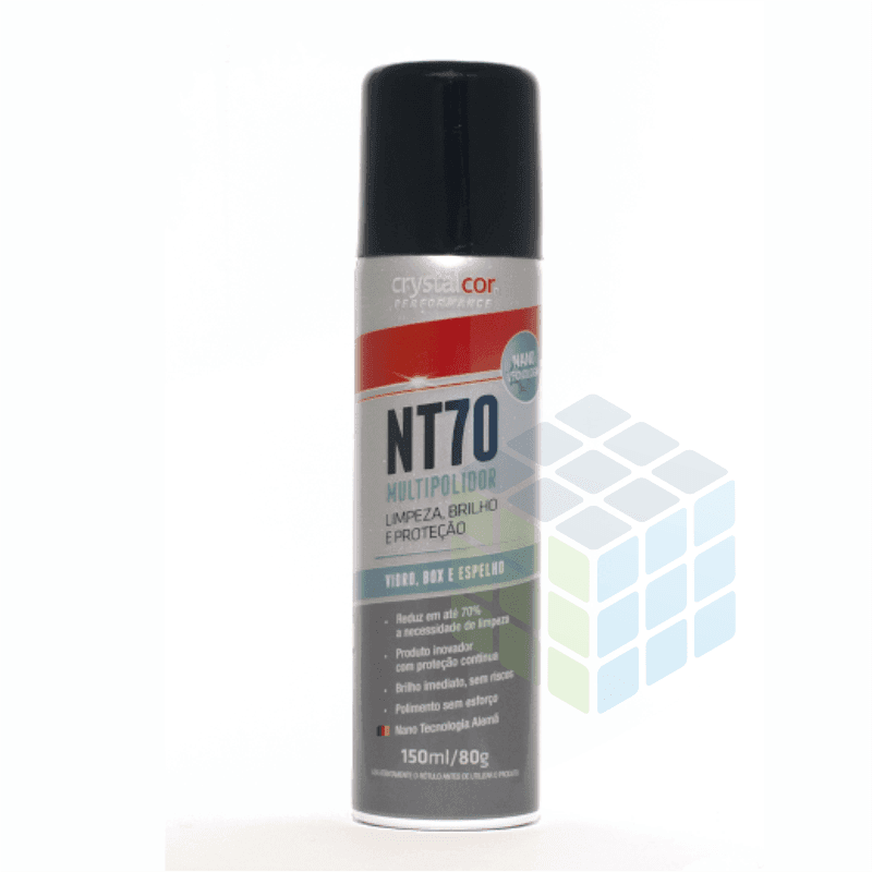 NT70 MULTIPOLIDOR - LIMPA VIDROS, BOX E ESPELHOS - SPRAY 150 ml