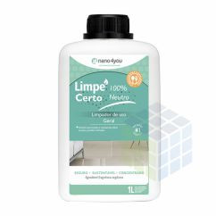 LIMPE CERTO 100% - DETERGENTE BIODEGRADÁVEL NEUTRO PERFORMANCE - 1L